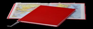 Ежедневник Santiago, не датированный + Атлас, белая бумага, 14,5*20,5, цвет Красный