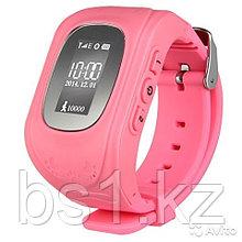 GPS часы, отслеживание детей, Розовая зайка