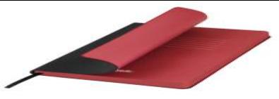 Ежедневник недатированный, Portobello Trend, River side, 145х210, 256 стр, черный/красный