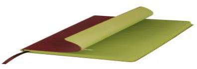 Ежедневник недатированный, Portobello Trend, River side, 145х210, 256 стр, Коричневый/Салатовый