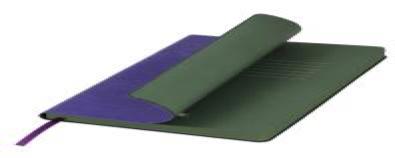 Ежедневник недатированный, Portobello Trend, River side, 145х210, 256 стр, Фиолетовый/Зеленый