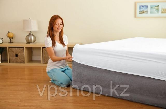 Матрас надувной двухспальный, высокая двухспальная надувная кровать Intex 64418 с доставкой