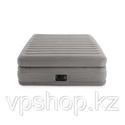 Матрас надувной, двуспальная надувная кровать со встроенным насосом Intex 64446 с доставкой