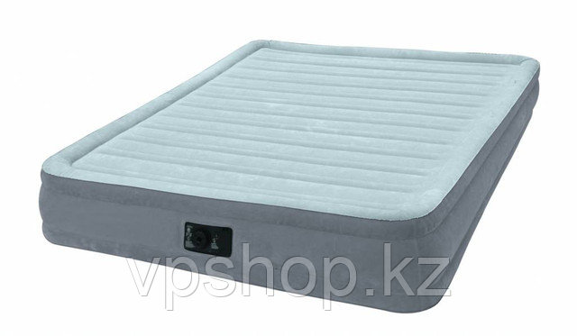 Матрас надувной, двуспальная надувная кровать с встроенным насосом Intex 67770 с доставкой