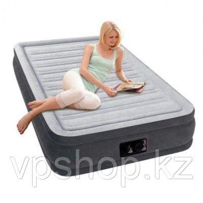 Матрас надувной, односпальная надувная кровать со встроенным насосом, Intex 67766 с доставкой