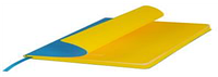 Ежедневник недатированный, Portobello Trend, River side, 145х210, 256 стр, Голубой/Желтый