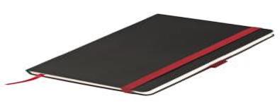 Ежедневник недатированный, Portobello Trend, Chameleon, для лазерной гравировки, 145х210, 256 стр, черный/крас