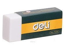 Ластик DELI, белый (42х17х10 мм)