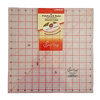 Линейка квадрат для пэчворка размером 32х32 см