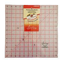"""Линейка квадрат для пэчворка размером 12,5"""" на 12, 5 дюймов"""