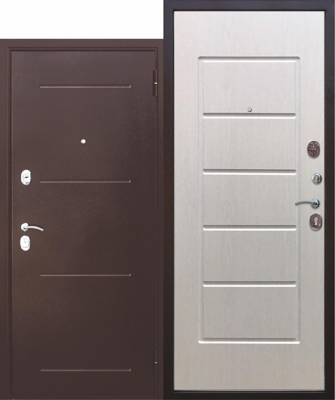"""Дверь металлическая входная """"Гарда""""Белый Ясень"""