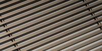 Декоративная алюминиевая решетка для внутрипольных конвекторов. Цвет: светлой бронзы