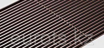 Декоративная алюминиевая решетка для внутрипольных конвекторов. Цвет: темная бронза