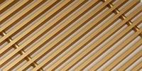 Декоративная решетка из нержавеющей стали для внутрипольных конвекторов. Цвет: латуни