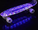 Пенниборд с LED подсветкой, синий, фото 3