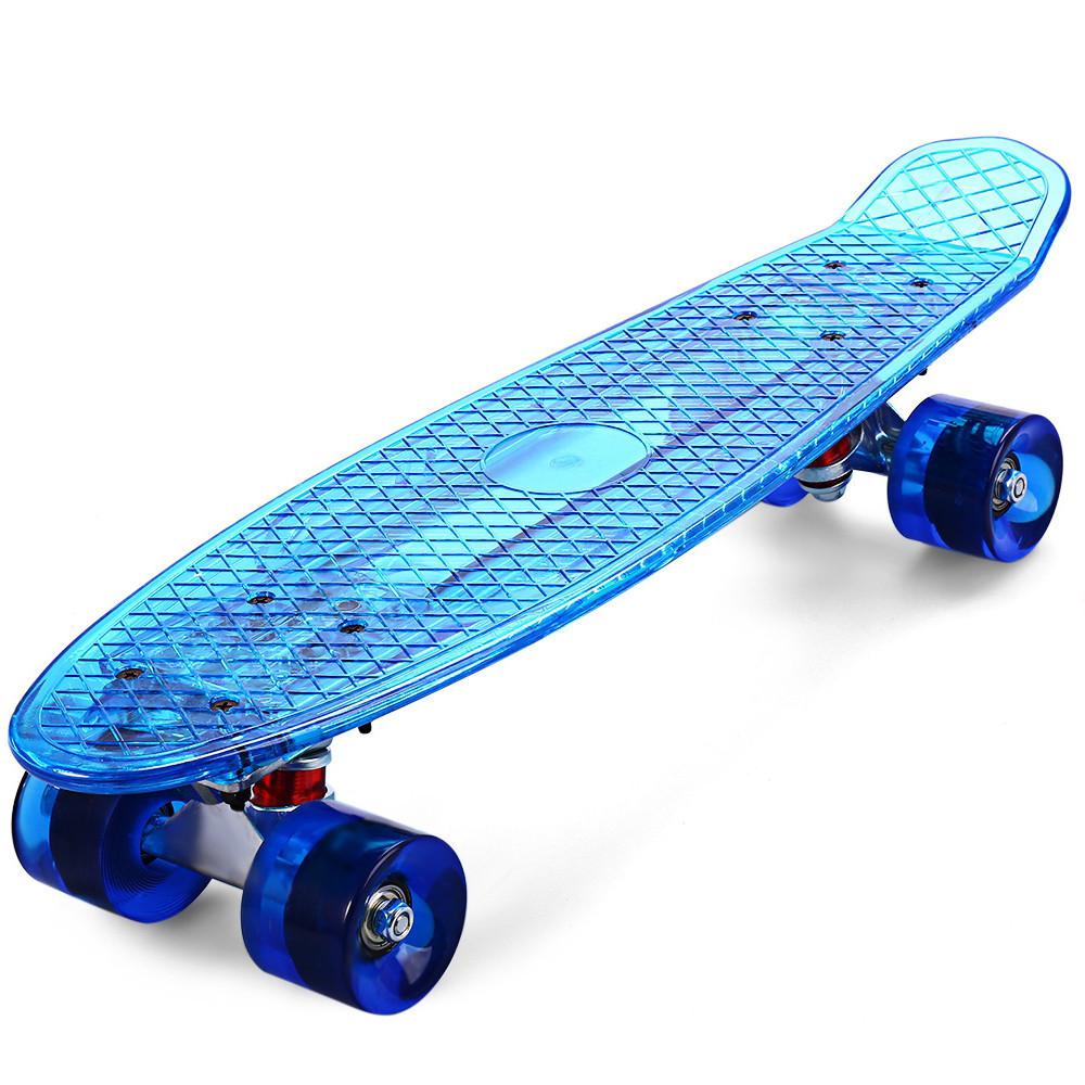 Пенниборд с LED подсветкой, синий