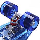 Пенниборд с LED подсветкой, синий, фото 2