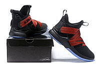"Кроссовки Nike Lebron Zoom Soldier 12 (XII) ""Black/ Red"" (40-46), фото 6"