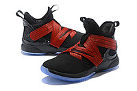 "Кроссовки Nike Lebron Zoom Soldier 12 (XII) ""Black/ Red"" (40-46), фото 2"