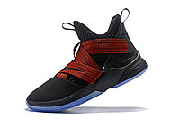 "Кроссовки Nike Lebron Zoom Soldier 12 (XII) ""Black/ Red"" (40-46), фото 4"