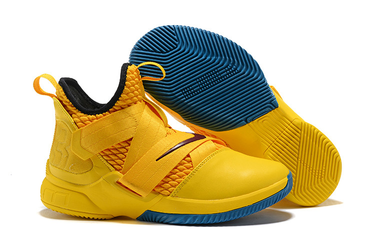"""Кроссовки Nike Lebron Zoom Soldier 12 (XII) """"Knight Yellow"""" (40-46)"""