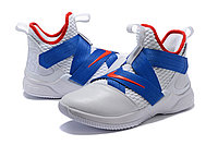 "Кроссовки Nikе Lebron Zoom Soldier 12 (XII) ""White/ Blue/ Red"" (40-46), фото 2"