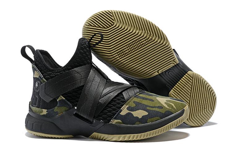 "Кроссовки Nike Lebron Zoom Soldier 12 (XII) ""Black Camo"" (40-46)"