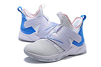 "Кроссовки Nike Lebron Zoom Soldier 12 (XII) ""White/ Blue"" (40-46), фото 2"
