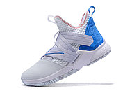 "Кроссовки Nike Lebron Zoom Soldier 12 (XII) ""White/ Blue"" (40-46), фото 4"