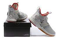 "Кроссовки Nike Lebron Zoom Soldier 12 (XII) ""Grey/ Red/ Gold"" (40-46), фото 6"