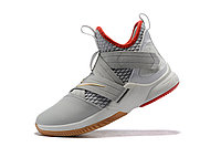 "Кроссовки Nike Lebron Zoom Soldier 12 (XII) ""Grey/ Red/ Gold"" (40-46), фото 4"