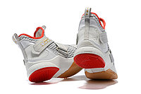 "Кроссовки Nike Lebron Zoom Soldier 12 (XII) ""Grey/ Red/ Gold"" (40-46), фото 5"