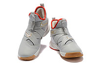 "Кроссовки Nike Lebron Zoom Soldier 12 (XII) ""Grey/ Red/ Gold"" (40-46), фото 3"