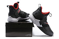 """Кроссовки Nike Lebron Zoom Soldier 12 (XII) """"Black/ White/ Red"""" (40-46), фото 6"""