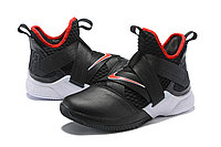 """Кроссовки Nike Lebron Zoom Soldier 12 (XII) """"Black/ White/ Red"""" (40-46), фото 2"""