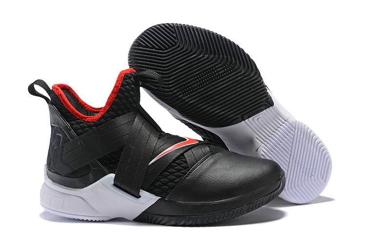 """Кроссовки Nike Lebron Zoom Soldier 12 (XII) """"Black/ White/ Red"""" (40-46)"""