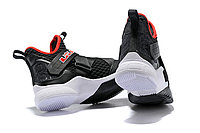 """Кроссовки Nike Lebron Zoom Soldier 12 (XII) """"Black/ White/ Red"""" (40-46), фото 5"""