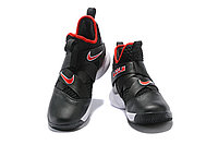 """Кроссовки Nike Lebron Zoom Soldier 12 (XII) """"Black/ White/ Red"""" (40-46), фото 3"""