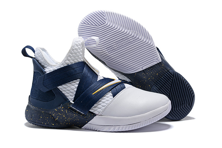 "Кроссовки Nikе Lebron Zoom Soldier 12 (XII) ""Navy Blue/ White"" (40-46)"
