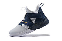 "Кроссовки Nike Lebron Zoom Soldier 12 (XII) ""Navy Blue/ White"" (40-46), фото 4"