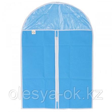 Чехол для хранения одежды на молнии, нетканый материал, ПВХ, 60 х 135 см. Elfe, фото 2