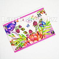 Альбом для рисования 3D цветы и бабочки 24 листа Yalong 811-24-70A