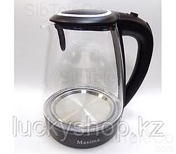 Чайник электрический Masima MJ-1028 / 2 л./ 1800W/ Стекло / Подсветка/ Дисковый