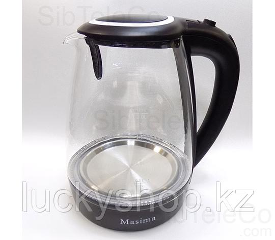 Чайник электрический Masima MJ-1028 / 2 л./ 1800W/ Стекло / Подсветка/ Дисковый, фото 2