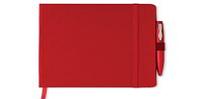 Блокнот A5 с Обложкой из Картона, Красный