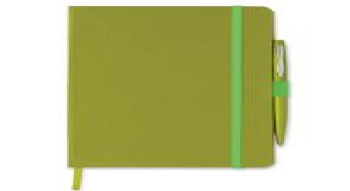 Блокнот A5 с Обложкой из Картона, Зеленый