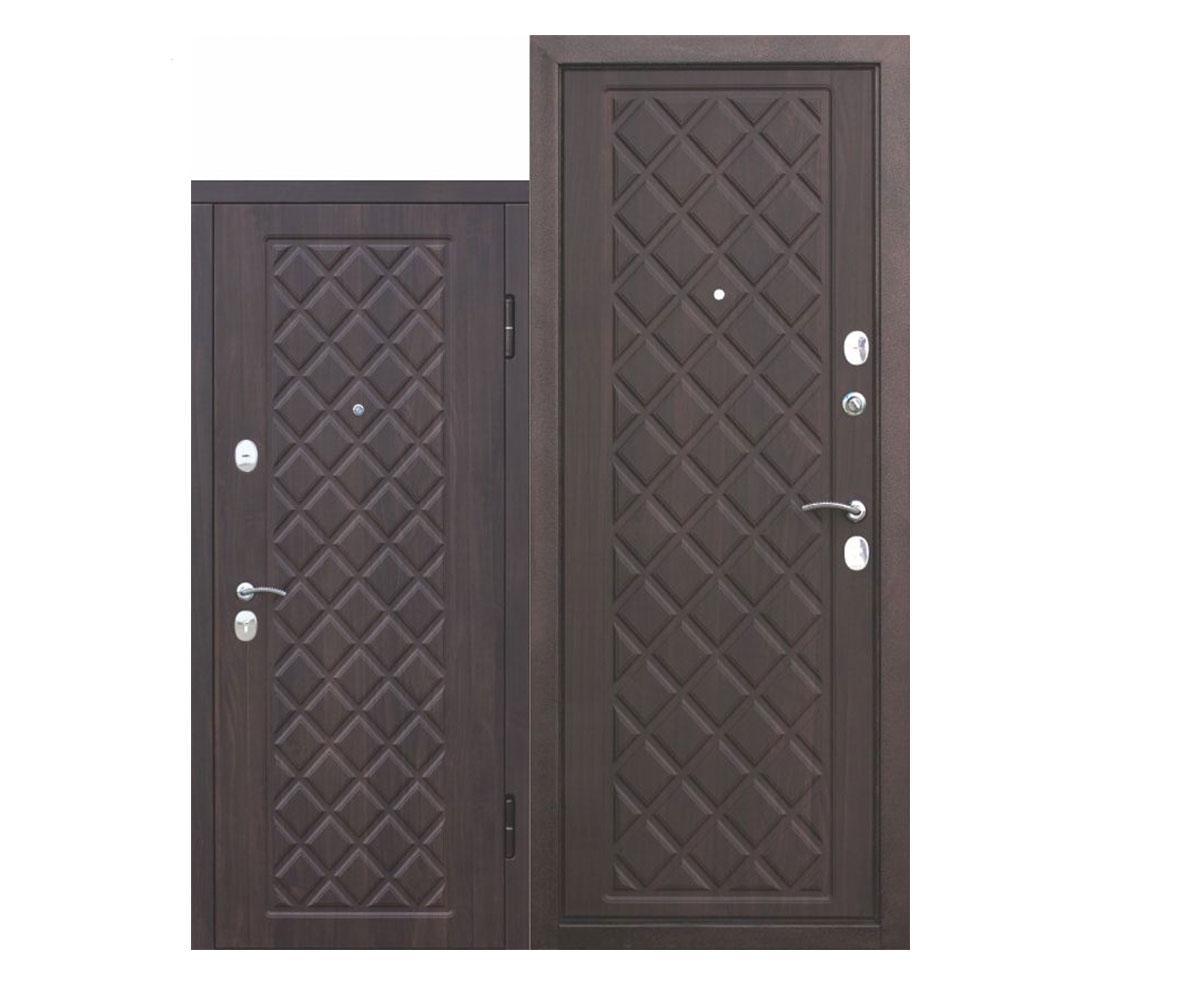 """Дверь металлическая входная """"Камелот""""Вишня тёмная"""