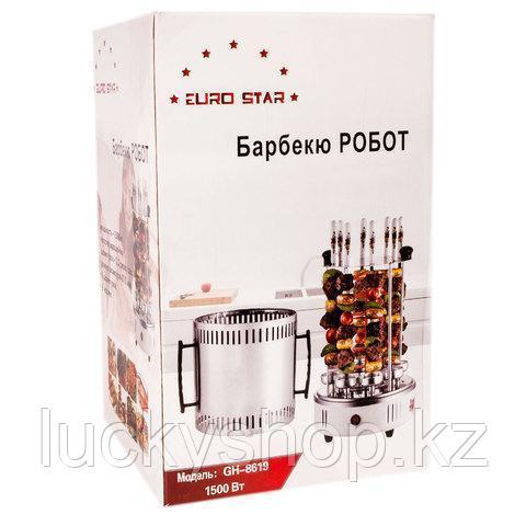 Электрошашлычница на 8 шампуров «Барбекю робот» EURO STAR GH-8619