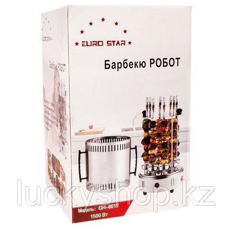 Электрошашлычница на 8 шампуров «Барбекю робот» EURO STAR GH-8619, фото 2