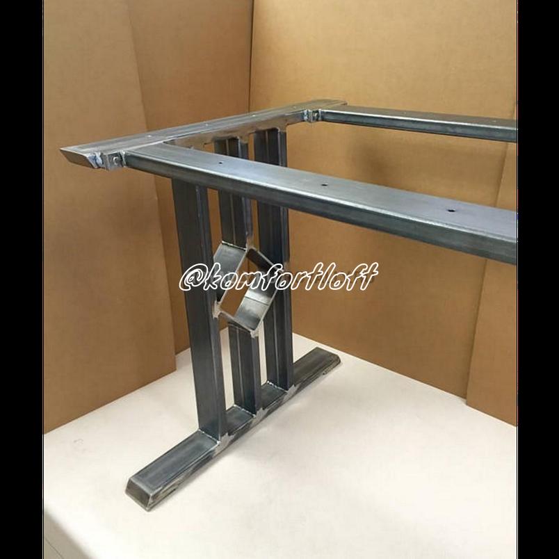 Стол в стиле Loft на металлическом основании, фото 2